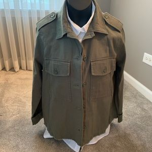Army green light weight jacket